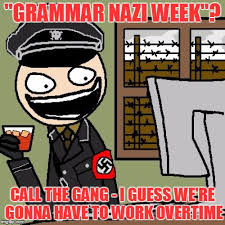 Grammer Nazi Meme - grammar nazis or text support you decide grammar nazi week