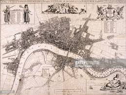 map of london c1680 artist john oliver pictures getty images