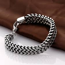 bracelet chain images Stainless steel double side snake chain bracelet ancient explorers jpg