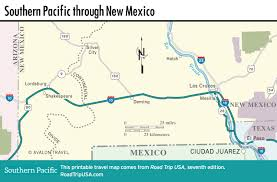 New Mexico Cities Map Southern Pacific Us 80 Cross Country Route Road Trip Usa
