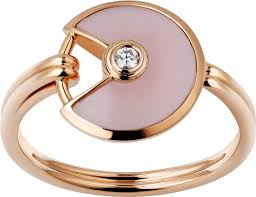 cartier rings price images Crb4213400 amulette de cartier ring xs model pink gold pink png