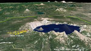 Wild Fires In Oregon Update by Bybee Creek Fire Burns Up To Crater Lake U2013 Wildfire Today