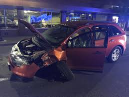 wrecked car police drunken driver wrecked car ordered more drinks at strip