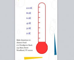 Fundraising Goal Thermometer Fundraising Goal Banner Thermometer For Fundraising Template