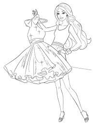 barbie coloring pages fashion coloringstar