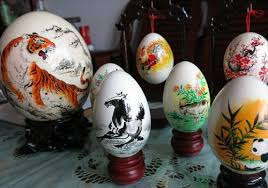 painted eggshells egg straordinary images global times