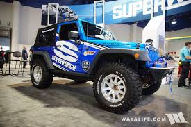 blue jeep 2 door 2016 sema superwinch 2 door jeep jk wrangler