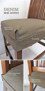 Seat Cover Dining Room Chair Tailored Denim Seat Covers The Slipcover Maker