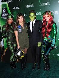 lebron james halloween party party photos shenae grimes jenna ushkowitz see green at midori