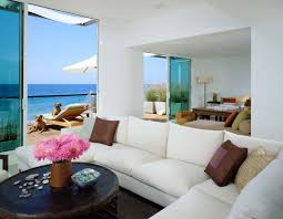 beach themed living room with dark furniture extraordinary round