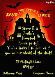 haunted house party save the date magnets