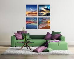 4 panels hd seascape home decor wall art picture digital art print