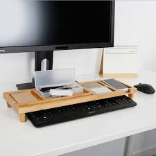 Computer Desk Accessories Computer Keyboard Stationery Holder Wooden Creative Office School
