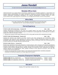Data Entry Clerk Resume Sample by File Clerk Resume Sample Experience Resumes