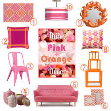 pink orange color combination home decor