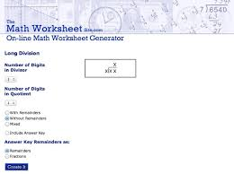 5 websites to download long division worksheets