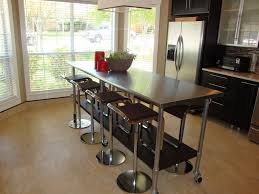 stainless steel islands kitchen the best versatile stainless steel island white cabinets wall in