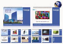 desain kalender meja keren pembuatan kalender perusahaan untuk cross selling