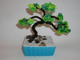 asia japanese bonsai tree on crafts for teaching
