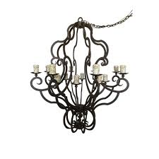 Vintage Candle Chandelier Interior Comely Kitchen Lighting Decoration With Wrought Iron