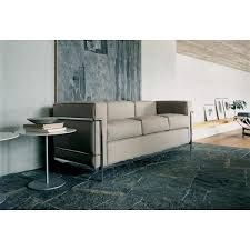 lc2 sofa lc2 sofa 3 seater lacquered frame cassina