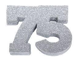 Favors For 75th Birthday by 75th Birthday Confetti 75th Anniversary Confetti Seventy