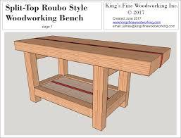 split top roubo woodworking bench u2013 king u0027s fine woodworking inc