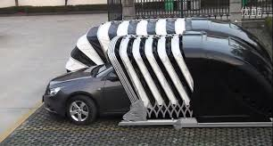 Pod Garage | chinese company invents cocoon garage that wraps around the car