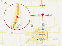 lubbock on map semi truck falls overpass of lubbock spilling fuel
