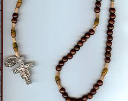 franciscan crown rosary franciscan crown etsy