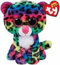 shop ty beanie boo u0027s pink u0026 gray tasha leopard small