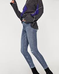 High Waisted Colored Jeans The High Waist Vintage Jeans High Waist Jeans Woman Zara