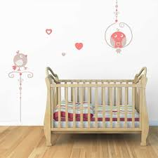 stickers de pour chambre sticker mural oiseaux perchoirs motif bébé fille pour chambre
