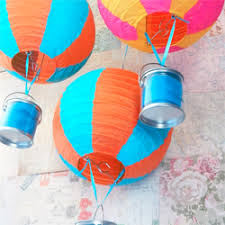How To Make Paper Air Balloon Lantern - great diy decorations turn paper lanterns into air