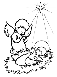 born baby jesus cliparts coloring pages children