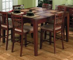 chair acme danville 7 pc marble top square counter height dining