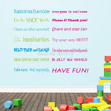 zooyoo 8332 pvc large kids u0027 room decoration rules of our playroom