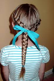 hair braided into pony tail little girl s hairstyles low side french braids into braided