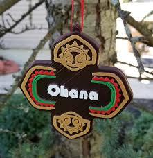 polynesian ohana themed christmas ornament disney tiki