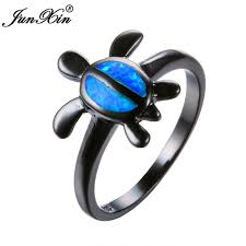 aliexpress buy junxin new arrival black aliexpress buy junxin fashion animal ring blue opal