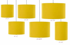 Clip On Ceiling Light Covers Mustard Yellow Drum Cylinder Lshade 20cm 25cm 30cm 35cm 40cm