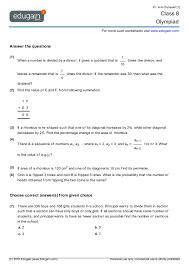 grade 8 olympiad printable worksheets online practice online