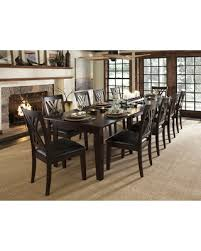 spectacular deal on asha 13 piece solid wood dining set brown