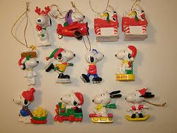 vintage peanuts snoopy woodstock ornaments 12 pc lot