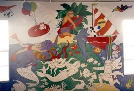 tradart custom artwork mermaid mural on a playroom wall