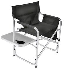 Tall Directors Chair With Side Table Brilliant Folding Directors Chair With Side Table Tall Aluminum