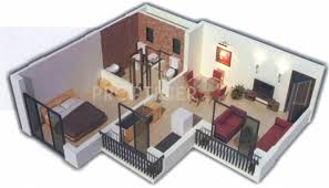 650 sq ft 1 bhk floor plan image neo infracon ltd mumbai