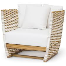 Wooden Outdoor Lounge Furniture Hines Modern Classic Salt Wrapped Outdoor Lounge Chair
