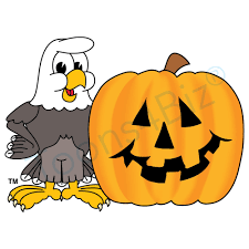 bald eagle mascot bald eagle halloween pumpkin clip art