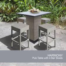 tk classics harmony pub backless 4 harmony pub table set with
